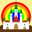 Happiness castle — Stock Vector