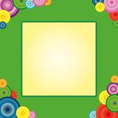 Rainbow and circle frame — Stock Vector