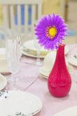 Brightl flower in a vase — Stock Photo