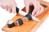 Cut sushi roll — Stock Photo