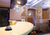 Chromium bell on bar — Stock Photo