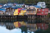 Houses on stilts in Castro — Stock Photo