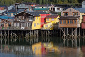 Houses on stilts in Castro — Stock Photo