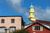 Wooden church on the island of Chiloe — Stock Photo