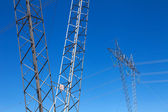 Transmission line towers — Stock Photo
