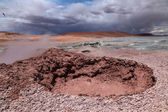 Geyser on the Altiplano plateau — Stock Photo