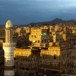Sunset over the Sanaa — Stock Photo