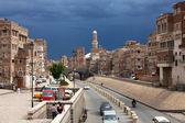 Vue de la rue au yémen — Photo