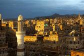 Sunset over the Sanaa — Stock Photo