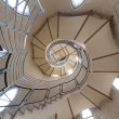 Long circular stairs inside the building - Stock Photo