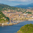 Постер, плакат: View to the city San Sebastian Basque country