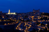 Night view of the city Toledo — Stock Photo