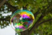 Färgglada såpbubbla — Stockfoto