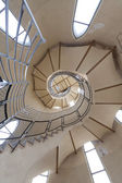 Long circular stairs inside the building — Stock Photo