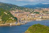 Pohled na město san sebastian, baskicko — Stock fotografie