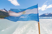 The national flag of Argentina — Стоковое фото