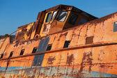 破壊された船のクローズ アップ — ストック写真