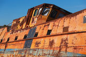 Zerstörte schiff closeup — Stockfoto