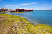 Ships on the Atlantic coast of Patagonia — Stock Photo