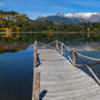 Pier on a mountain lake in  Argentina — Stock fotografie