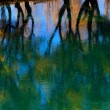 Autumn trees reflected in water — Stock Photo #17690141