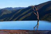 Terraced standing water near famous attraction Hierve el Agua. — Stock Photo