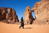 Stone arches in the Sahara — Stock Photo