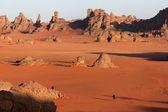Stones in the Sahara desert — Stock Photo