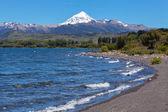 Vulcão lanin, do parque nacional lanin, — Foto Stock