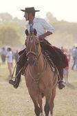 Gauchos en Fiesta de la Tradicion in San Antonio de Areco — Stock Photo