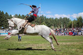 Gaucho an National Puestero Festival in Junin de los Andes, February 16, 2013, Patagonia, Argentina — Stock Photo