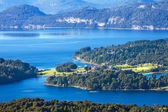 View from the mountain Lopez to the Villa Llao Llao, Bariloche, Patagonia, Argentina — Stock Photo