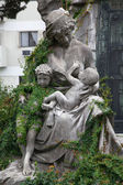 Sculpture in the cemetery of Recoleta, Buenos Aires, Argentina — Stock Photo