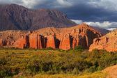 多彩的岩层阿根廷 — 图库照片