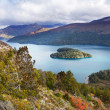 Heart island, lake Mascardi, Patagonia, Argentina - Stock Photo