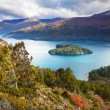 Heart island, lake Mascardi, Patagonia, Argentina — Stock Photo