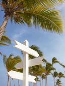 Signpost multiple blank — Стоковое фото