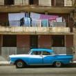 HAVANA, CUBA - JUNE 21: Vintage cars on the streets of Havana — Stock Photo #29335107