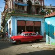 HAVANA, CUBA - JUNE 23: Vintage cars on the streets of Havana — Stock Photo #29335295