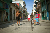 HAVANA, CUBA - JUNE 23: A scene from the life of the inhabitants — Stock Photo