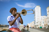 HAVANA, CUBA - JUNE 25: A scene from the life of the inhabitants — Stok fotoğraf