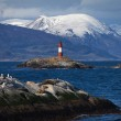 Lighthouse end of the world in the Beagle Channel — Stock Photo #33097521