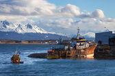 Ship wreck near Ushuaia, Tierra del Fuego. — Stock Photo