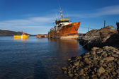 Ship wreck near Ushuaia, Tierra del Fuego. — Stock Photo