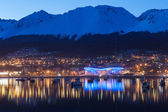A night view of Ushuaia — Stock Photo
