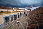 Street of San San Cristobal de las Casas — Stock Photo