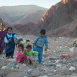 Group of children of berbers in SaharDesert — Stock Photo #33712069