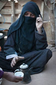 Portrait of the unknown old berber woman — Stock Photo