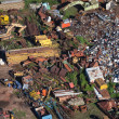 View from the helicopter for the scrap metal dump — Stock Photo #33722527