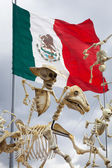 Skeletons is obligatory attribute of Traditional Day of the Dead — Stock Photo